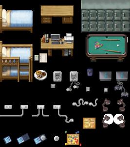 Tileset consolas y juegos